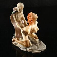 Women Ghost Sex Skeleton Skull Halloween Statue Resin Decor Sculpture Ornament
