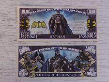 BATMAN: The Caped Crusader Comic Book Hero <> $1,000,000 One Million Dollar Bill