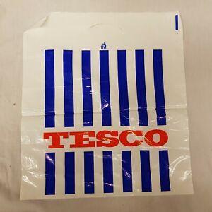 Vintage Carrier Bag Tesco Value Polythene Retro Shopping Bags Advertising