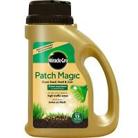 Miracle-Gro Patch Magic Grass Seed Feed Coir Grow Anywhere Dry Sunny Shady 1015g