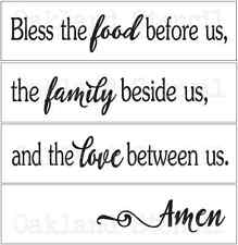 STENCIL*Bless the food*Set of 4 stencils for Painting Signs Wood Fabric Canvas