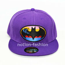 Purple New Batman hiphop Snapback Adjustable Flat baseball cap hat Gift Costume