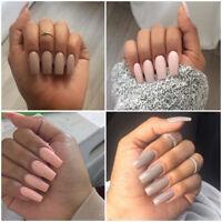 Makartt 500x Nail Tips Half Cover Natural Acrylic Gel False Nails 10 Sizes