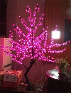 5 Ft 1.5 M LED Cherry Blossom Tree Wedding Garden Holiday Xmas Light Pink home