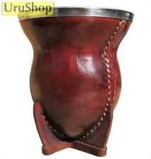 M58 LUXURY NATURAL YERBA MATE GOURD LEATHER & FLAT RIM