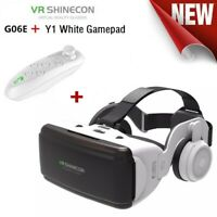 VR Virtual Reality 3D Glasses Box with Headset Remote Control for Android IOS