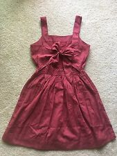 Authentic Madewell Apron bow-back dress Size 10, Antique rose $118.