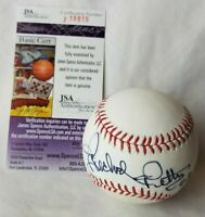 Richard Petty Signed Baseball Rawlings OML Racing Nascar JSA COA