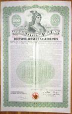 GERMANY 7% Dawes Gold Bond $1000 1924 SCRIPOTRUST certified