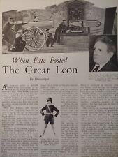 June 1930 Magazine Page #A130- When Fate Fooled The Magician- The Great Leon- 2P