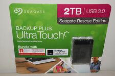 Seagate Backup Plus Ultra Touch 2TB USB 3 Rescue Edition Data Sec Portable Drive