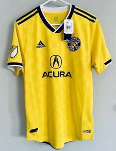 Adidas Columbus Crew MLS Soccer Jersey Aeroready Yellow & Black Mens Size Medium