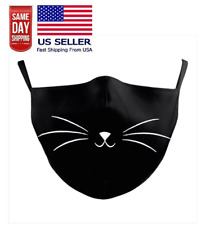 Cat Whiskers Face Mask Black Kitty Animal Adjustable Adult Us Seller Fast Ship