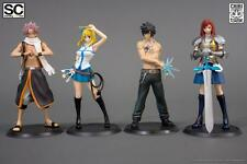 Authentic Tsume Fairy Tail Character Figures Set of 4 Natsu, Lucy, Gray, & Erza