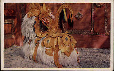 L' Indonesia VINTAGE POSTCARD Barong Bali Java per 1940 Barong ketet Asia Natives