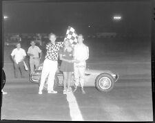 7 Photo Negatives NIGHT MIDGET AUTO RACING 1960s Double Exposures CALIF TRACK