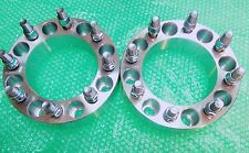 2 PC WHEEL SPACERS ADAPTER 8x6.5 8x165.1 126 CB 25MM 1 INCH 14x1.5 CHEVY DODGE