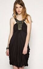 All Saints Spitalfields 8 Akiko Grecian Bubble Dress Beaded Embellished Neckline
