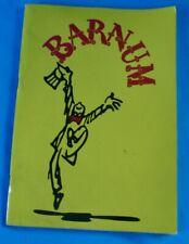 Ancien Programme Spectacle Catalogue de spectacle Barnum Cirque vintage 1981