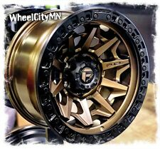 17 X9 Inch Bronze Black Fuel D696 Covert Wheels Fits Lifted Ford F150 6x135 1