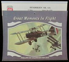 Phillips 66 Advertising Calendar 1976 Great Moments in Flight aircraft aviation