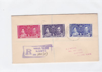 gilbert and ellis islands 1937 registered stamps cover   ref r15439