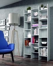 Estanteria o libreria de diseño irregular gran capacidad en color blanco artik
