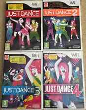 Just Dance 1,2,3 and 4 Nintendo Wii PAL Very Good Condition + 1st Class Delivery