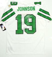 f319b917340 Keyshawn Johnson Autographed White Pro Style Jersey- Beckett Authenticated