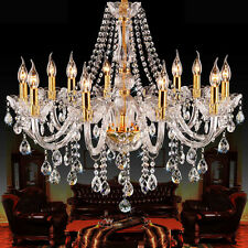 CLEAR GOLDEN K9 Crystal Chandelier 2/6/7/8/10/15 Arms Table Floor Pendant Lamp