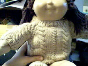 Customized Rope Cable Twist Sweater Handmade for Build A Bear Made in USA