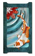 Playing Koi Contemporary Painting on Metal Wall Sculpture Modern Home Decor