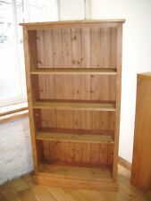 5' x 3'  solid pine BOOKCASE. hand waxed ADJ SHELVES