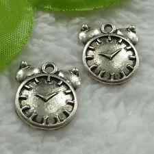 Free Ship 100 pcs tibet silver alarm clock charms 20x17mm #968