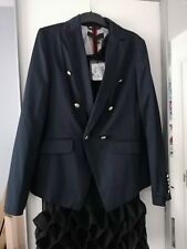 Next blue navy gold buttons Military Tailored Blazer /Jacket Size 8 NEW