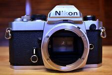Nikon Fm 35mm Slr Film Camera Body, Silver
