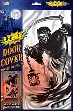 Light-Up Door Cover Grim Reaper Halloween Party Decoration Death