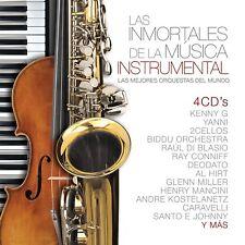 Las Inmortales De La Musica Instrumental 4 CD's NEW 190758219325 NOW SHIPPING !