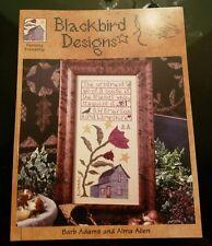 Blackbird Design ENDURING FRIENDSHIP  Cross Stitch Chart Sampler