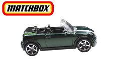 Matchbox Mini Cooper S Cabrio - BMW Mini Cooper S Convertible grünmetallic