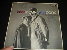 More details for once moore with cook dudley & peter hand signed lp autographed vinyl album