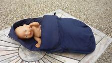 Fußsack für Babyschale, dunkelblau, Reißverschluß, Baumwolle, Marke: Tiamo