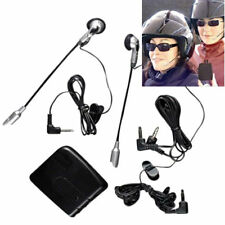 KIT INTERFONO PER CASCO MOTO COPPIA AURICOLARI MICROFONO AUX MP3 VOLUME DOPPIO
