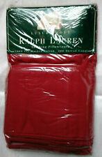 RALPH LAUREN BARN RED PAIR OF KING PILLOWCASES-100% COTTON-NEW