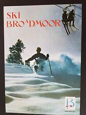 ORIGINAL 1960's BROADMOOR SNOW SKI POSTER VINTAGE COLORADO MOUNTAIN SKIER SKIING