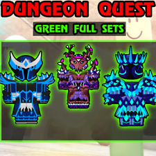 Roblox Dungeon Quest - All Green Armor Sets (Big Sale)