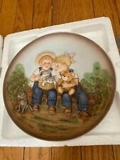 1985 Homco Denim Days Plate A Sunny Day #1505 Kids & Kittens