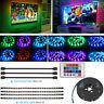 TV LED Backlight 4 x 50CM USB Powered RGB LED Strip Light Remote Colour Changing