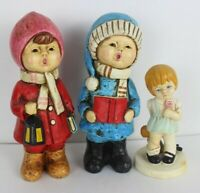 Vintage 1972 kids Twinton little girl with doll and two singer