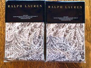 "New Ralph Lauren 2 King Shams- DOVER STREET GWENDOLYN 20X36"""